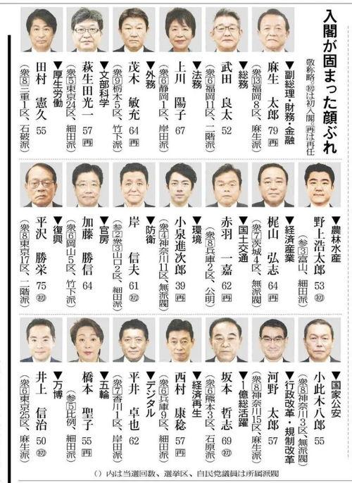 日本,菅义伟接替安倍,出任日本第99代首相内阁