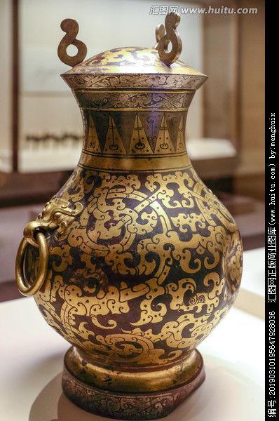 鎏金银蟠龙纹铜壶