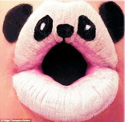 嘴唇画动物 别致又浪漫
