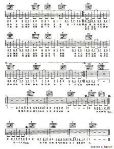 霍尊《卷珠帘》简谱/吉他谱/五线谱/六线谱