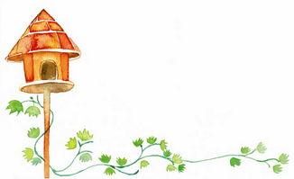 简单漂亮手抄报花边 温馨的鸟巢