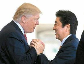 资料图:美国总统特朗普(左)和日本首相安倍晋三(右)