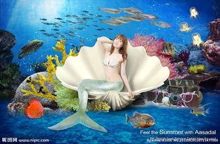海底龙宫美人鱼图片