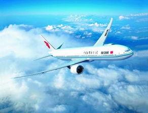 国航涂装波音777-300er飞机