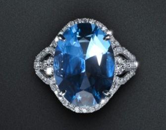 18K金,海蓝宝石,钻石戒指-Marvella夏日海洋元素 静谧海蓝宝石和蓝...