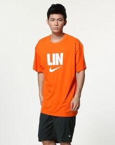耐克nike男装专场 男款橙色休闲短袖t恤