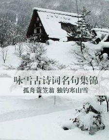 关于雪的诗句 蟾宫曲 雪