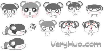 眼袋熊表情包 可爱动态的眼袋熊QQ表情包