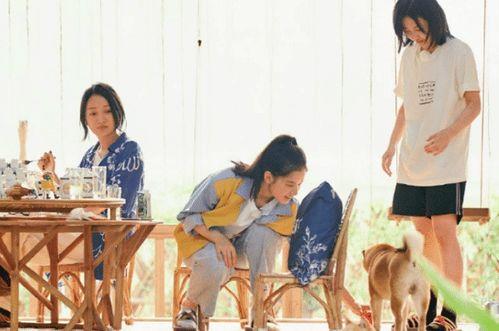飞行嘉宾周迅(左)和张婧仪(中)