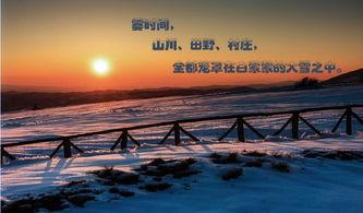 描写冬天的村庄优美句子