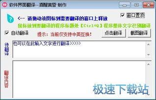 怎么将软件界面上的英文翻译成中文