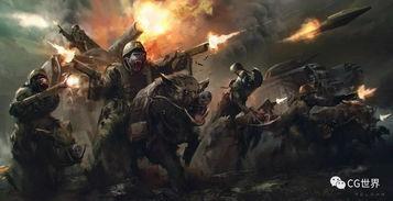 描写战士们战斗场面的句子