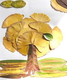 如何用树叶制作有关秋天的手工作品