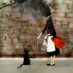 求大神帮我找张图片,是一个女孩在路上喂野猫的图片,女孩好像以前在topitme看到的,现在怎么找也找不到了
