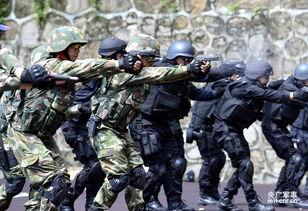 广东精锐军警集训对抗霸气场面6672470