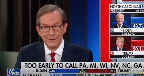 特朗普说已经赢了美媒主持人集体反驳票还没计完呢