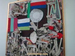 幼儿园墙面布置图片 艺术作品展示