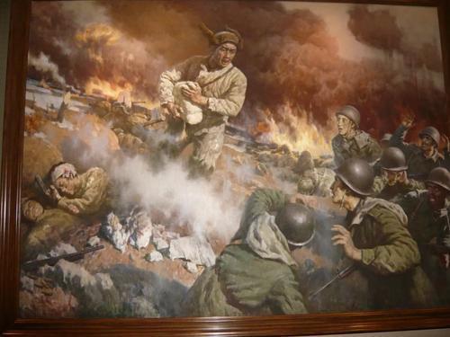 关于战争诗句的石配画