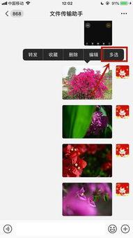 微信收到很多照片,能否一起存到手机里面
