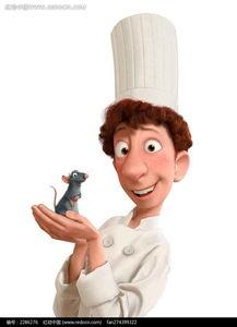 双手捧着老鼠的厨师