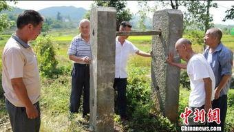 湖南永兴县发现清代石闱子 为褒奖当地人才辈出而立