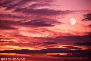 傍晚的天空图片