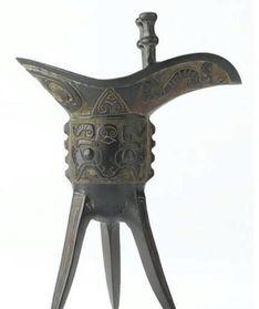 青铜器0125中华传统工艺品青铜酒杯爵图片素材jpg