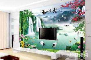 电视墙壁纸怎么选 电视墙壁纸的效果图