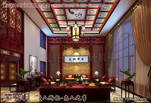 别墅客厅中式装修效果图 青岛豪宅古典中式风格装修效果图