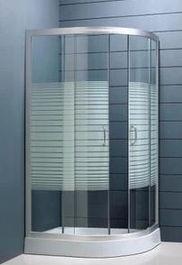 扬州 测量钛合金艺术玻璃移门 淋浴房制作安装