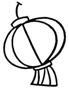 灯笼简笔画 各式灯笼 灯笼简笔画图片