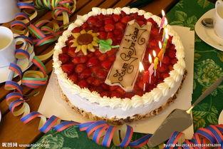 美味的生日蛋糕图片