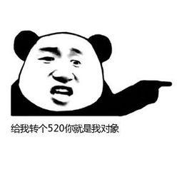 表情 张学友熊猫头右指表情 给我转个520你就是我对象 九蛙图片 表情