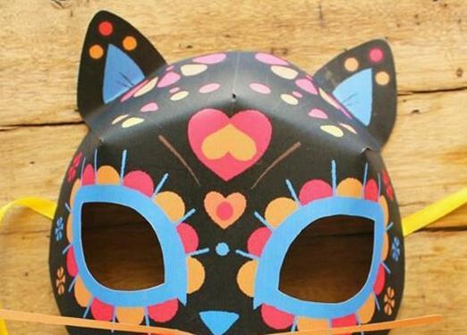 儿童手工制作动物面具制作