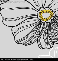 简单线条画出的灰色花朵图片免费下载 编号1908853 红动网