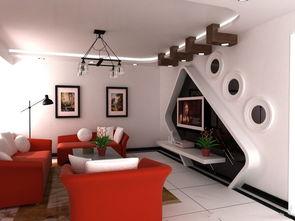 家装3D电视背景墙效果图 土巴兔装修效果图