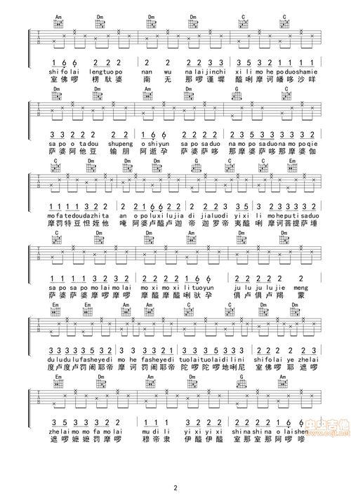 捉泥鳅吉他弹唱扫弹谱