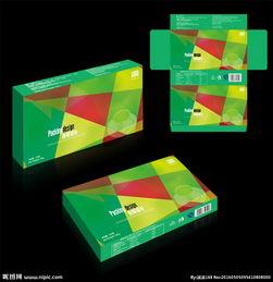 进口食品包装盒 平面展开图