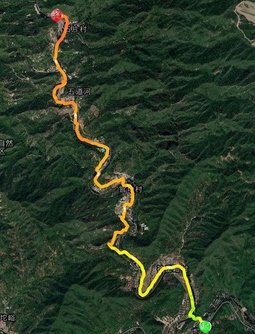 ▲荒野行动-神堂峪木栈道徒步路线图