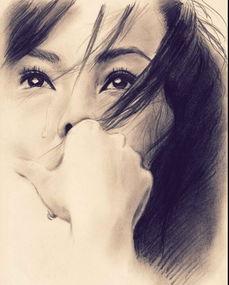 铅笔画图片大全 悲伤的女孩