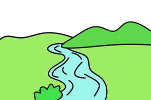 河流怎么画简笔画图解 米粒分享网 MI6FX.COM