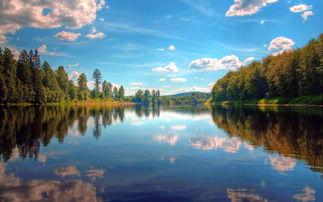 青山绿水唯美大自然风景桌面壁纸