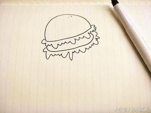 儿童食物简笔画大全,你能画出几种 打开美食新方式