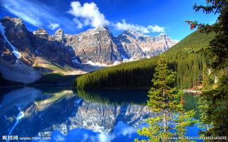 唯美蓝天白云山水风景图片