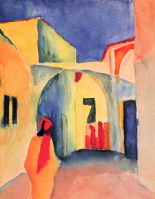 August Macke-A Glance Down an Alley