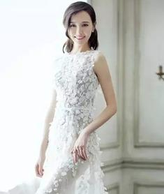唐嫣婚纱照