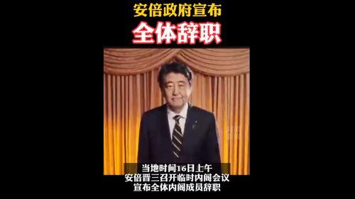 安倍政府全体辞职据日本时事通讯社报道,日本首相安倍晋三当地时间16日上午召开临时内阁会议,汇总内阁成员的辞职书,宣布全体内阁成员辞职.