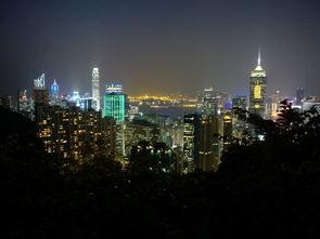 香港夜景三张