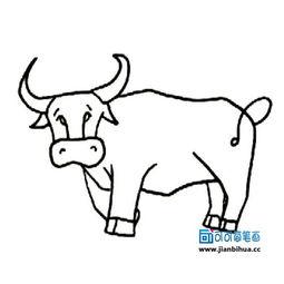 儿童简笔画牛的画法 2