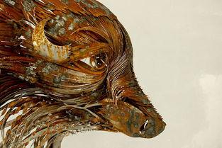 钢制手工动物面具艺术品欣赏